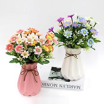 5pcs flor artificial xiaolanhua crisantemo flores secas regalo de flores falsas para las mujeres
