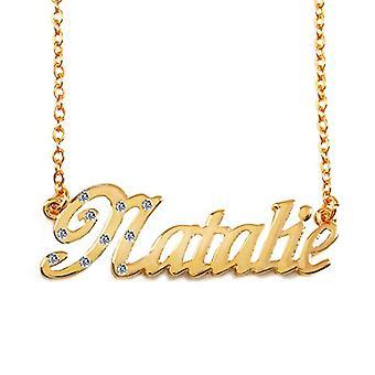 """L Natalie - 18 karaattinen kullattu kaulakoru, säädettävä ketju 16""""- 19"""", Regal-pakkauksessa"""