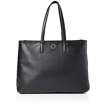 Mandarina Duck Mellow Leather, Borsa a Tracolla Donna, Nero (Nero), 14x30x40 cm (W x H x L)