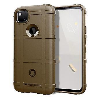 Tpu carbon fibre case for google pixel 4xl brown mfkj-1040
