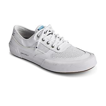 Sperry Soletide Mens Leather Casual Trainers White