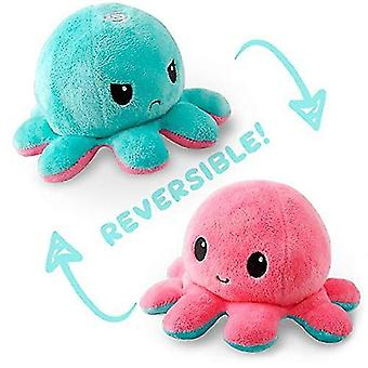 Reversible octopulushie black gray show your mood without saying a word pl-39
