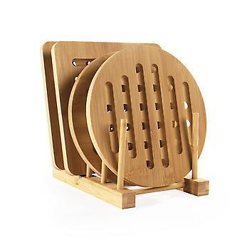 Sett med 4 bambustritter med | M&W