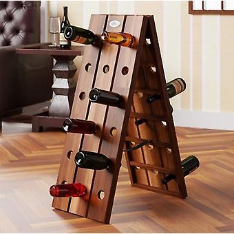 Estante de vino plegable para 36 botellas en un diseño elegante