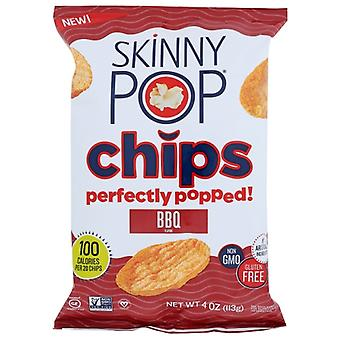 Skinny Pop Chips Popped Bbq, Case of 12 X 4 Oz