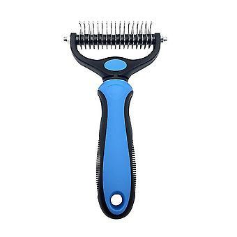 Big blue pet fur knot cutter dog grooming shedding tools cat hair removal comb az10780