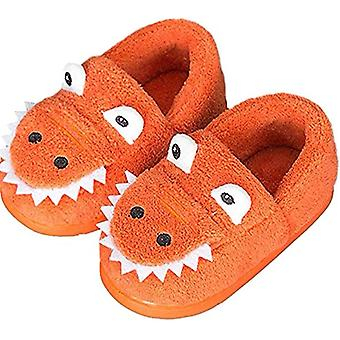 Girls Boys Home Slippers Warm Dinosaur House Slippers For Toddler Fur Lined Winter Indoor Shoes