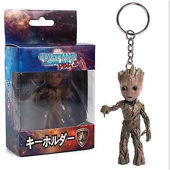 Baby Groot Keychain Key Ring Figure Guardians Of The Galaxy Vol.2 Ornament