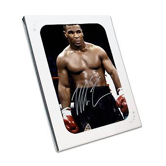 Mike Tyson undertecknat boxning Foto: baddest man på planeten. I presentförpackning