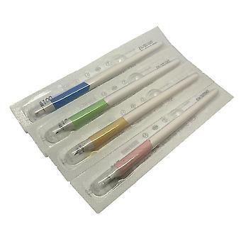 Disposable Microblading Hand Tool | Curve & U SHAPE - Pretty Pastels |  (0.18MM) Nano Blade | Bulk Buy - 18U / 10