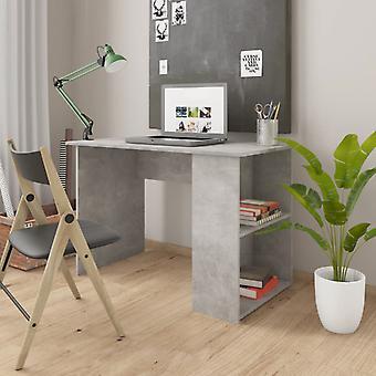 vidaXL Desk Concrete Grey 110×60×73 cm Chipboard