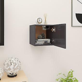 vidaXL TV armoire de télévision gris brillant 30,5x30x30 cm