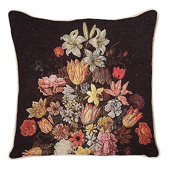 أمبروسيوس bosschaert حياة لا تزال من الزهور في غطاء وسادة وان لي زهرية