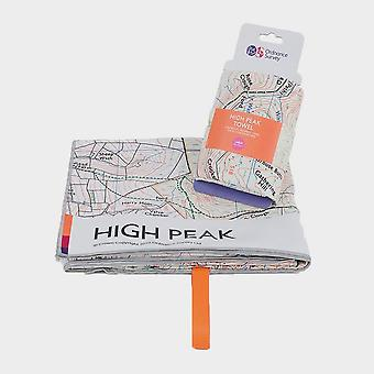 New Ordnance Survey High Peak Large Travel Towel White