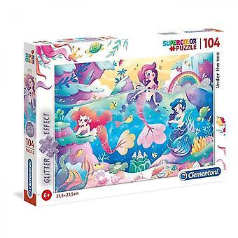 Puzzle Scintillant Glitter 104 Piezas - Sirenas