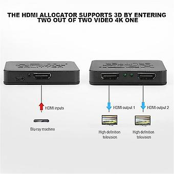 One In Two Out Versterker Display High Definition Hdmi Splitter Ondersteuning 3d