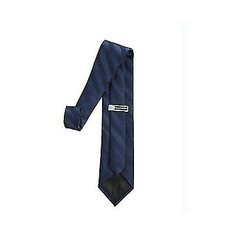 Herren Classic Solid Color Slim Krawatte (Dunkelblau)