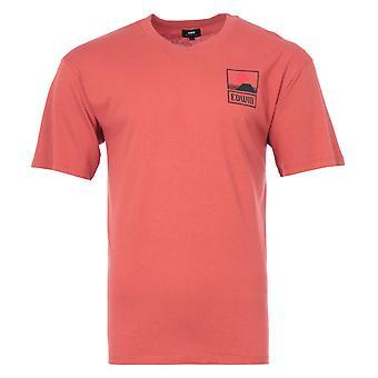Edwin Sunset On MT Fuji Crew Neck T-Shirt - Burnished Sunset