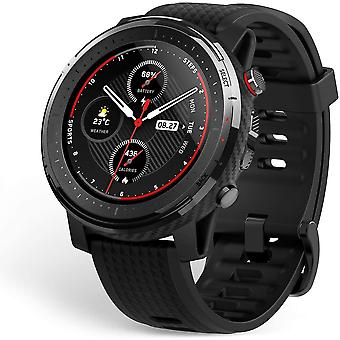 Amazfit Stratos 3 Smartwatch Sports Watch with 1.34 Inch MIP Display, 19 Sports Modes, GPS and Music Storage, 5 ATM Waterproof, Men's Fitness Tracker(black)