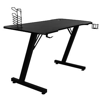 Silktaa E-sports Table With Headphones Hanging With Cup Holder Triangle Diagonal Rod Reinforcement