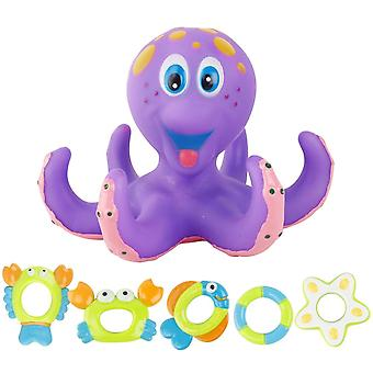 Floating Octopus Bath Toy Home For Kids Summer Safe Funny Crab Fish Bathtub Interactive  Toy