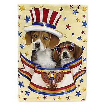 Flags windsocks carolines treasures ppp3017gf beagle usa flag garden size