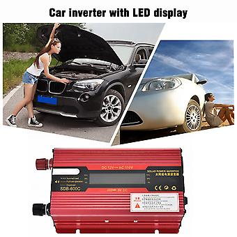 650w Car Power Converter 12v To 110v Stainless Steel Vehicle Power Adapter