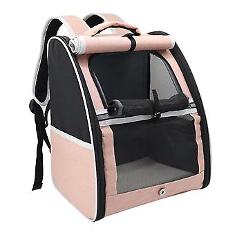 Breathable Cat Carrier Backpack Portable Pet Transport Cat Travel Bag Cage For Small Dogs Cats Outdoor Shoulder Bag Pet Supplies