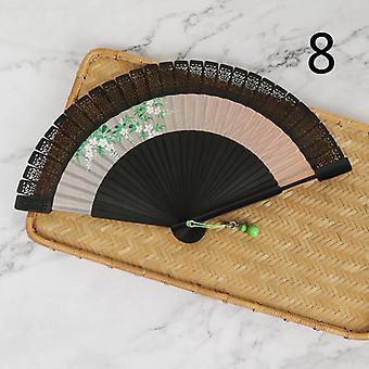 Antike Bastelgeschenke Handbemalte Hohle Klassische Tragbare Falten Bambus Fan
