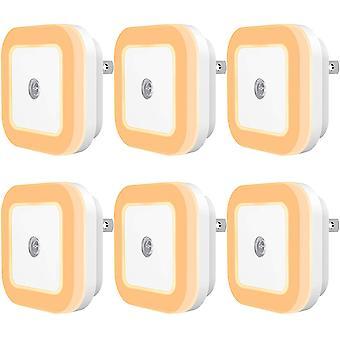 LED-Nachtlicht mit Sensor für Dämmerung und Dämmerung für zu Hause 6er-Pack