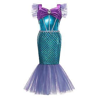 اللباس حزب فتاة صغيرة حورية البحر الأميرة زي