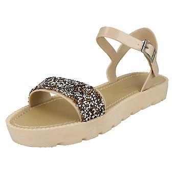 Ladies Flatform Glitter Sandal