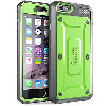 iPhone 6S tapauksessa Supcase, Apple iPhone 6 tapauksessa karu Holster kanssa sisäänrakennettu Screen Protector-vihreä/harmaa