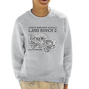 Haynes Owners Workshop Manual Land Rover Overland Black Kid's Sweatshirt