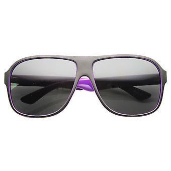 Mens Flat Top kunststof Neon een Aviator zonnebril