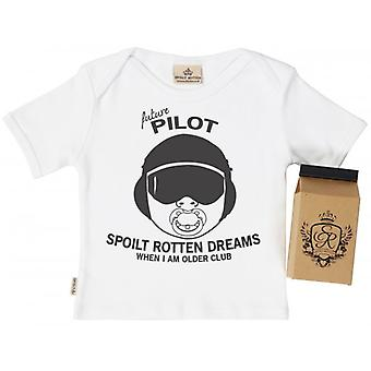 Spoilt Rotten SR Dreams Future Pirate Toddler T-Shirt 100% Organic Cotton