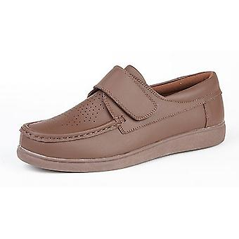 Dek Mens Touch Fastening Leather Bowling Shoes