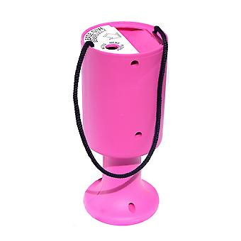 Round Charity Money Collection Box - Pink