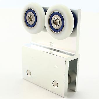 26mm metal suporte duas rodas pendurado Roller