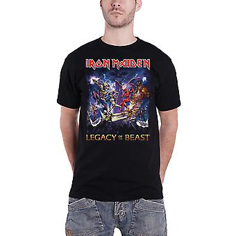 Iron Maiden T camisa Legacy Of The besta Mens Black nova oficial