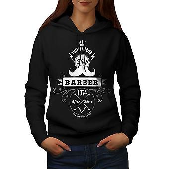 Barber Shop Women BlackHoodie   Wellcoda
