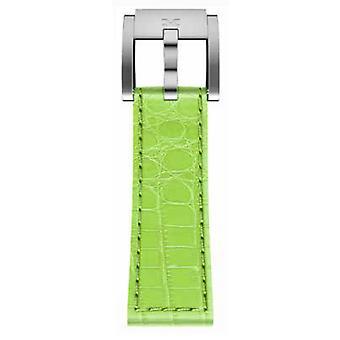 TW Steel Marc Coblen armband horloge band 22 MM Croco lederen licht groene LB_HG_K_S