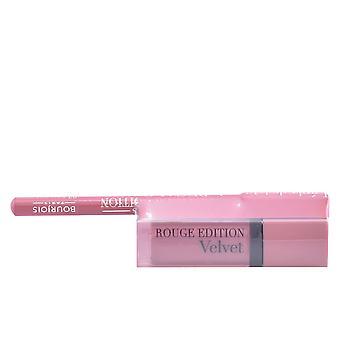 Bourjois Rouge Edition Lápiz Labial de Terciopelo #10+contorno Lipliner #2 Gratis para Mujer