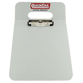 QuickCar Racing Products 51-048 Aluminum Acrylic Clipboard with Stop Watch Mounts