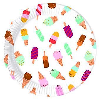 アイスクリーム アイス クリーム パーティー プレート Ø 23 cm 8 個子供誕生日テーマ パーティー