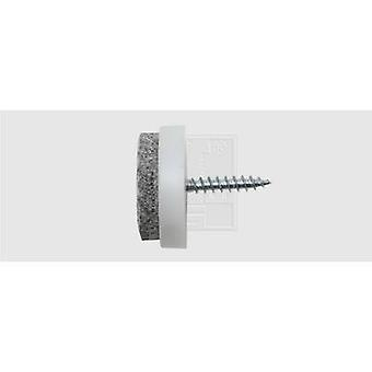 SWG 684 120 24 75 pâslă de fixare cu șurub, circular alb (Ø) 24 mm 25 buc (e)