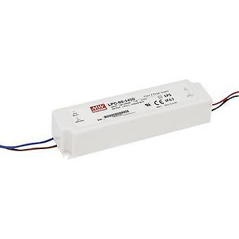 Mean Well LPC-60-1050 CONTROLADOR LED Corriente constante 50.4 W 1.05 A 9 - 48 V DC no regulable, Protección contra sobretensiones
