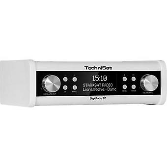 TechniSat DigitRadio 20 DAB + keuken radio, Radio base component AUX, DAB +, FM, wit