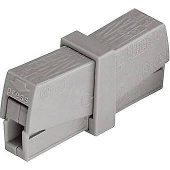 WAGO 224-201 connectorklem flexibele: 0.5-2.5 mm² rigide: 0.5-2.5 mm² aantal pins: 2 1 PC('s) grijs