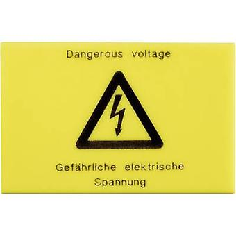 Warning sign Phoenix Contact 2716499 WS-G5/4 Yellow 1 pc(s)